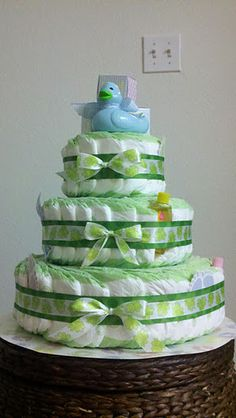 This is the diaper cake Kim and I made for Amanda's baby shower. It turned out awesome!