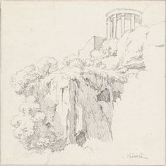 Tempel van de Sibylle in Tivoli, van onderen gezien, Hendrik Voogd, 1788 - 1839 Grand Tour, Emoji, 19th Century, It Works, Sketches, Tours, Italy, Snow, Drawings
