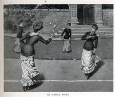 Sports and pastimes Edwardian Era, Victorian Era, Lawn Tennis, Tennis Fashion, Tennis Dress, Badminton, Tennis Players, Images, Statue