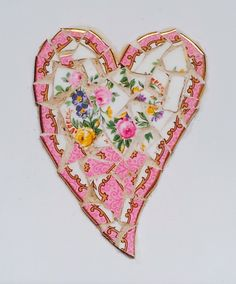 Heart mosaic on tile by Helen Disley