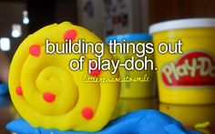 building things out of play-doh #littlereasonstosmile