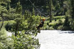 Fun for all ages! Zip across the Gallatin River with Yellowstone ZipLine Tours
