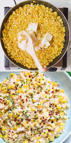 This One Pot Cheesy Creamed Corn recipe is super easy to make and so creamy it will be hard to stop at only one serving. This creamed corn will by far be the best you've ever had! # Food and Drink meals clean eating ONE POT CHEESY CREAMED CORN Lunch Recipes, Easy Dinner Recipes, Easy To Cook Recipes, Side Dish Recipes, Easy Foods To Make, Vegetable Recipes, Canapes Recipes, Vegetarian Recipes Videos, Ham Recipes