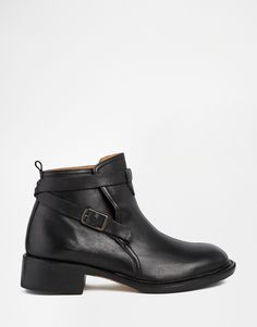 Image 1 ofH by Hudson Sachs Black Leather Ankle Boots