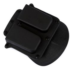 SURIEEN Black Tactical 4500Wide Belt Paddle Double Magazine Holster Pouch Case for 1911 Government Model Hunting Gun Accessories