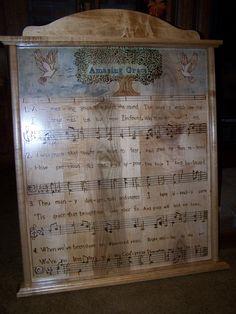 wood burned plaque