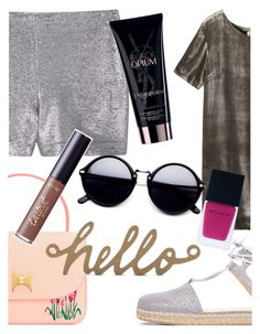 """""""What are you doing tonight?"""" by elliewriter ❤ liked on Polyvore featuring MANGO, Stuart Weitzman, Toast, Yves Saint Laurent, tarte and Witchery"""