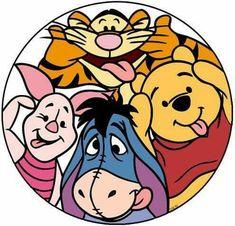 Eeyore With Winnie The Pooh, Tigger & Piglet Winnie The Pooh Tattoos, Winnie The Pooh Drawing, Winnie The Pooh Pictures, Cute Winnie The Pooh, Winne The Pooh, Cartoon Wallpaper, Cute Disney Wallpaper, Walt Disney, Disney Art
