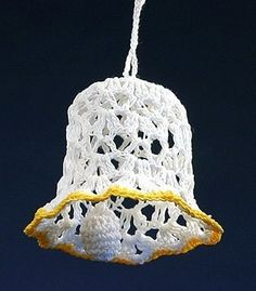 #Crochet #Christmas #ornament - #handmade lace #bell by #Koniakow