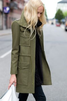 emersonfry:    Army Coat, Wool Knit Gillet, Emerson Shopper White Patent Leather, Emerson Denim Charcoal  Click to sign up!