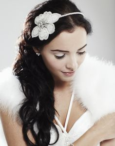 Chantelle White Pearl Beaded Side Tiara by Ivory & Co - LOVE