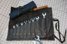 DIY Roll-Up Tool Organizer... Perfect for Father's Day!