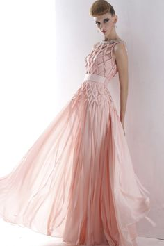 Round Neck Beaded Full Length Evening Prom Dress Formal Ball Gown