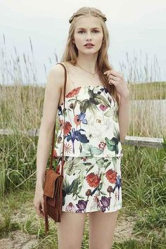 Motel Marley Floral Romper - Urban Outfitters #jumpsuit #covetme #playsuit #covetme