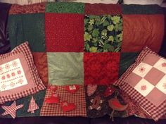 Christmas decorations and cushions all hand made.