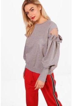 Lucy Rufle Cold Shoulder Sweatshirt