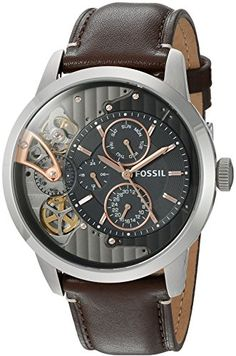 online shopping for Fossil Mens Townsman Twist Multifunction Dark Brown Leather Watch from top store. See new offer for Fossil Mens Townsman Twist Multifunction Dark Brown Leather Watch Fossil Watches For Men, Luxury Watches For Men, Cool Watches, Wrist Watches, Skeleton Watches, Casual Watches, Small Leather Goods, Dark Brown Leather, Fashion Watches