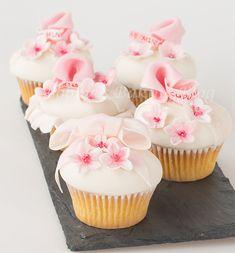 Valentine Cherry Blossom Cupcakes