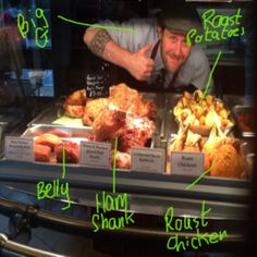 Our hot food counter & Big G