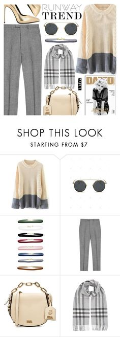 """""""Zaful"""" by jiabao-krohn ❤ liked on Polyvore featuring Karl Lagerfeld, Burberry, Yves Saint Laurent and zaful"""