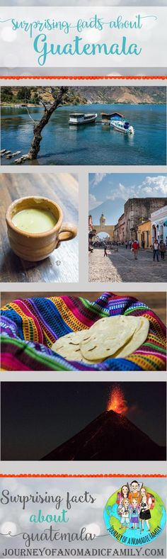 Facts about Guatemala that might surprise you! - Journey of a Nomadic Family Mayan Language, Making Peanut Butter, Pacaya, Golden Yellow Color, Lake Atitlan, Bus Travel, Red Flag, Mayan Ruins, Black Sand