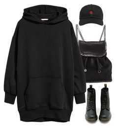 """Untitled #439"" by lourd-ita ❤ liked on Polyvore featuring STELLA McCARTNEY, Dr. Martens and The Hundreds"