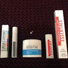 Winter lip trio: micro-dermabrasion, lip serum, and lip shield #rodanandfields
