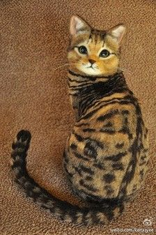 Stunning!! Felted Bengal