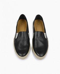 Coclico | black leather espadrilles