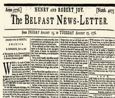 People always bemoan the slow death of the newspaper industry, but to be fair many newspapers have had a significantly long run. Here are several papers from around the world that have weathered many centuries, and are still publishing today! Newspaper Cover, Vintage Newspaper, Newspaper Headlines, Declaration Of Independence, Independence Day, Usa National Holidays, Belfast, How To Run Longer, Irish