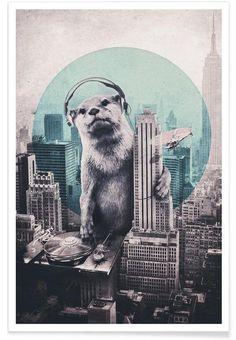 DJ als Premium Poster von Ali Gulec   JUNIQE