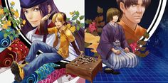 Hikaru no Go ~~ A phenomenal anime and manga shounen series :: Sai, Hikaru, Akira, and Koyo.