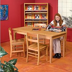 Demco.com - Georgia Chair Solid Oak Wood Tables - similar to what we own