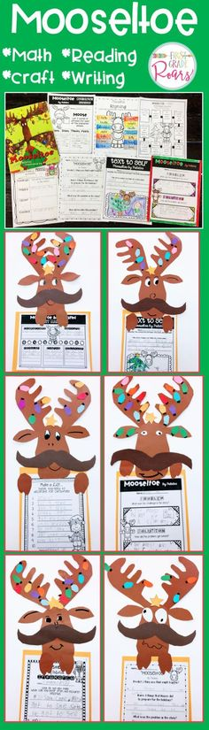 Mooseltoe is a perfect book to share during the month of December. This packet contain literature connections, math games, writing ideas, some word work and fun moose craft perfect for first grade or second grade. You students will love this mooseltoe unit.