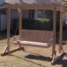 TMP Outdoor Furniture Traditional Red Cedar Pergola Arbor Swing Set