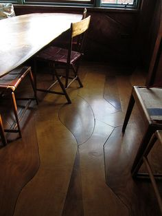 custom wood inlay flooring #floors #reclaimedwood