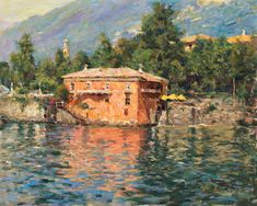 View Our Full Collection of Artwork by LEONARD WREN. Visit the gallery or browse online. The Art Shop ships worldwide. Lake Como, Wren, Fine Art Gallery, Beautiful Paintings, American Artists, Wall Art, Artwork, 1940, Image