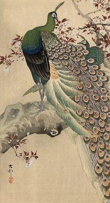 incenses:  Japanese Woodblock Print by Ohara Koson
