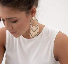 Seed Bead Earrings, Seed Beads, Drop Earrings, Liliana, Bead Jewellery, Ear Rings, Brick Stitch, Jewerly, Bead Earrings