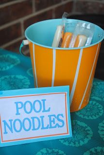 Diary of a Preppy Mom: Splish Splash Bash: Party Food. This is brilliant. Perfect cuz Annie's b-day in August and gets hot in the afternoon.