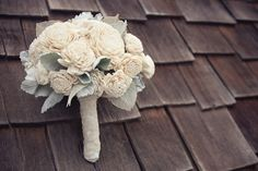 Balsa wood bouquets (yes, have  closer look! It's wood)