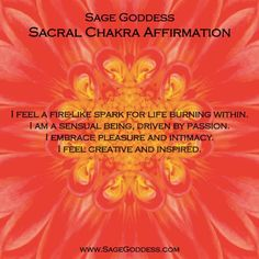All week long we're focusing on chakras here at Sage Goddess and today we're aligning your sexy and creative sacral energy center. What kind of sexy and creative healing do you need?
