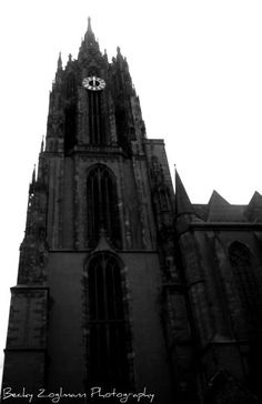 Frankfurt Cathedral, Germany and the organist played a Bach fugue for us.