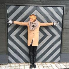 Grey door in Tallinn, Estonia
