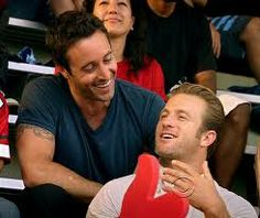 "How cute is this? Alex O'Loughlin and Scott Caan - Steve McGarrett and Danny ""Danno"" Williams"