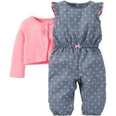 Child of Mine made by Carter's Newborn Baby Girl Romper and Sweater Outfit Set 2 Pieces #babygirlsweaters