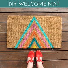 DIY Geometric Welcome Mat