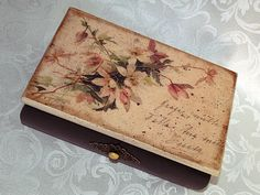 Jewelry box   Zenta  Decoupage technique box by HandmadeDecoupage, $56.00