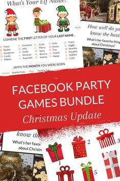 Grab these FREE Facebook games for Christmas. Get more interaction and have more fun in your direct sales Facebook parties >> #partyplanconsultant #directselling #directsales Interactive Christmas Games, Christmas Group Games, Christmas Party Themes, Holiday Games, Christmas 2019, Facebook Group Games, Facebook Party, Free Facebook, Direct Sales Games