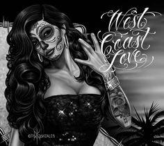 Art by David Gonzalez Chicano Drawings, Chicano Tattoos, Body Art Tattoos, Art Drawings, Nice Tattoos, Skull Tattoos, Tattoo Art, Tatoos, David Gonzalez